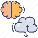 science, cloud, brainstorming, robotics, brain, technology, data icon