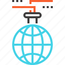 international, internet, lab, online, research, science, world icon