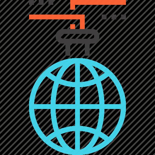 international, internet, lab, online, research, science, world icon