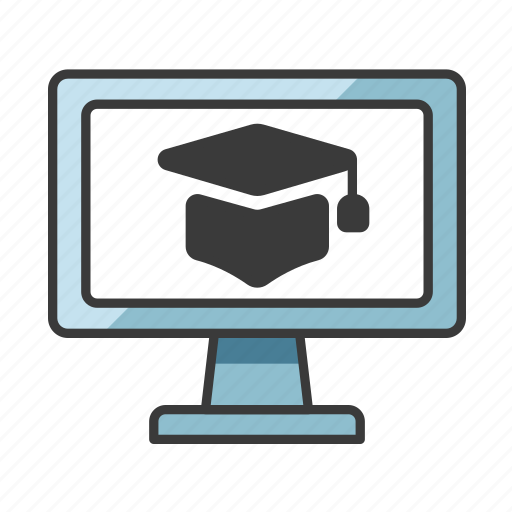 computer, education, learning, lesson, online icon