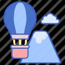 adventure, air, balloon, hot icon