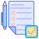 assignment, document, paper icon