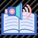 audio, book, education