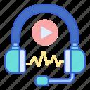 audio, media, sound icon