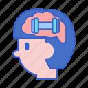 brain, mind, training icon