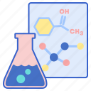 chemistry, flask, science icon