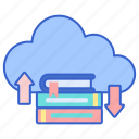 cloud, library, network icon