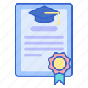 certificate, degree, diploma icon