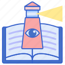 book, educational, vision icon