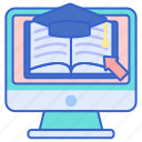 education, learning, study icon