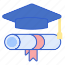 education, graduation, hat icon