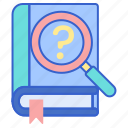 book, search, study icon