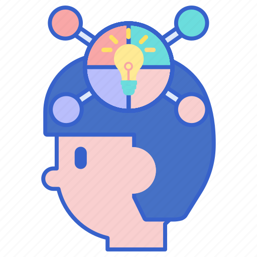 head, mapping, mind icon