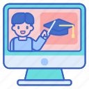 course, education, online icon