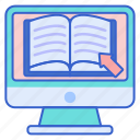 book, online, reading icon