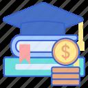 education, fund, scholarship icon
