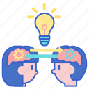connection, ideas, sharing icon