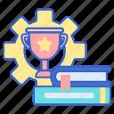 development, skill, trophy icon