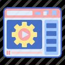 play, tutorial, video icon