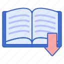 literature, storage, upload icon