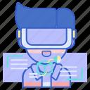 reality, virtual, vr icon
