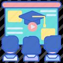 lecture, seminar, webinar icon