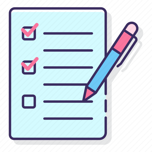 assignment, education, learning icon