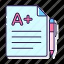 best, education, grade icon