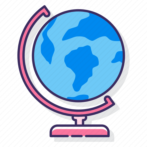 education, geography, map icon
