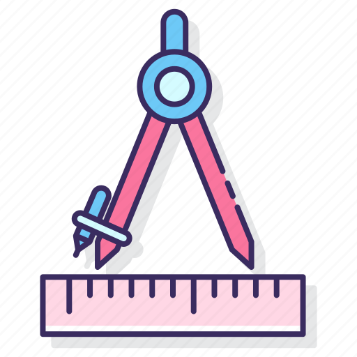 education, geometry, learning icon