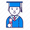 education, graduation, learning icon