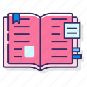 education, learning, material icon