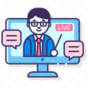 education, live, webinar icon