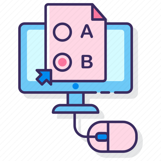 education, online, test icon