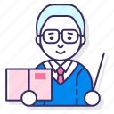 education, male, professor icon