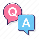 answers, education, and, questions icon