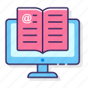 education, online, reading icon