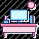 desk, education, student icon