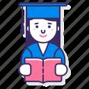 education, female, student icon