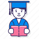 education, male, student icon