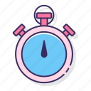 clock, education, timing icon