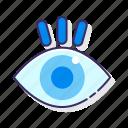 education, eye, vision icon