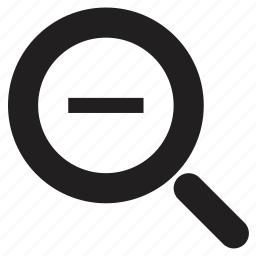 online, out, zoom icon
