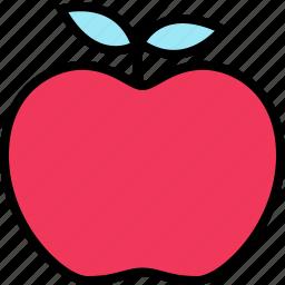 apple, education, learning, school, staff, teacher icon