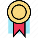 award, education, learning, ribbon, school icon