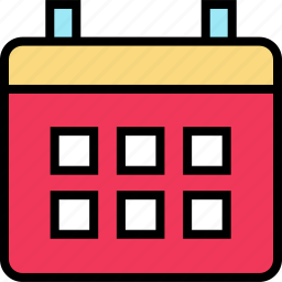 calendar, education, event, learning, schedule, school icon