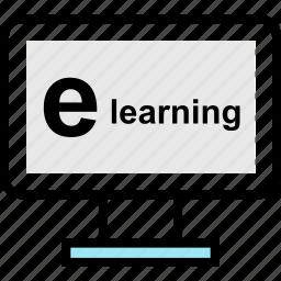 e, education, learn, learning, school icon