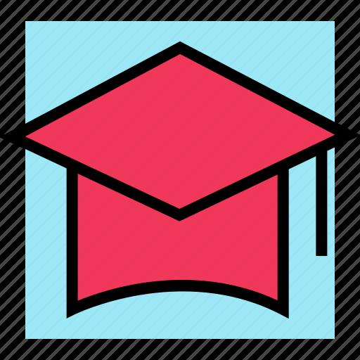 cap, education, graduation, learning, school icon