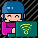 avatar, user, profile, person, female