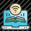 book, ebook, screen, laptop, reading